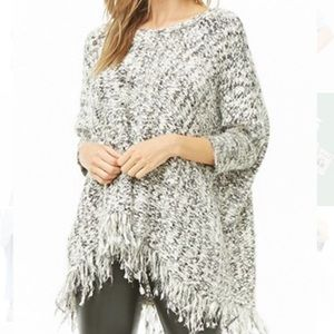 Gray Marled Distressed Sweater